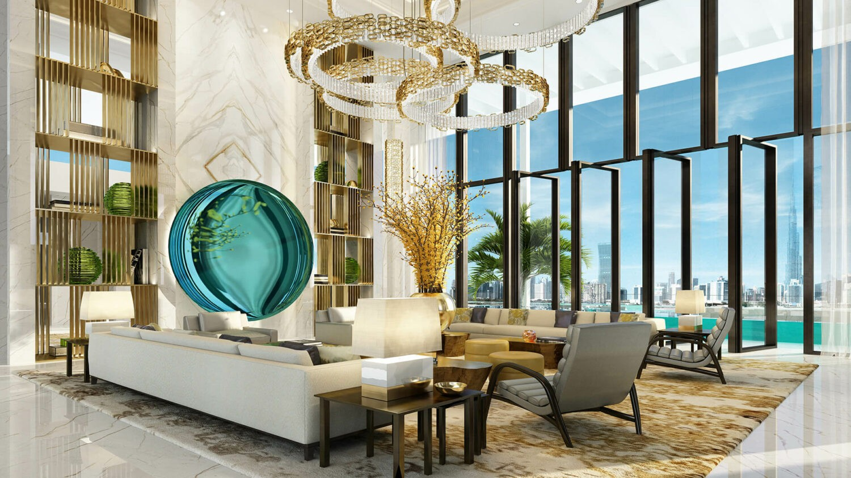 atlantis, the royal dubai-livingroom
