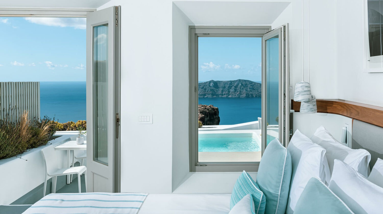 grace hotel, auberge resorts collection greece-bedroom