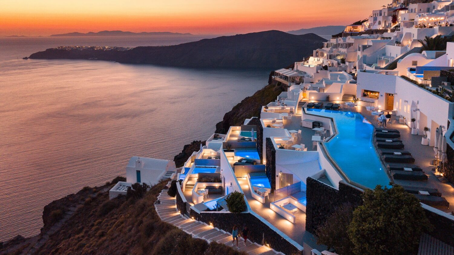 grace hotel, auberge resorts collection greece-sunset