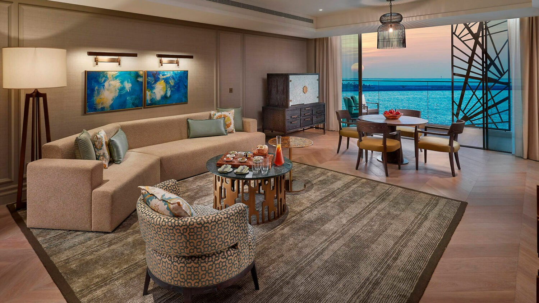 mandarin oriental jumeirah dubai-livingroom-sea-view