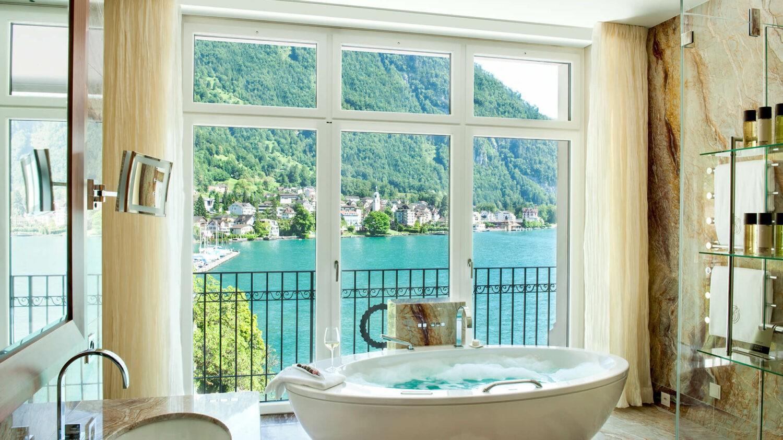 park hotel vitznau switzerland-bathtub