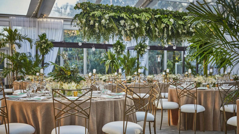 the ocean club four seasons resort bahamas-indoor-wedding-setup