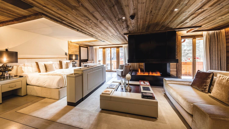 ultima-gstaad-signature-suite-fire-place